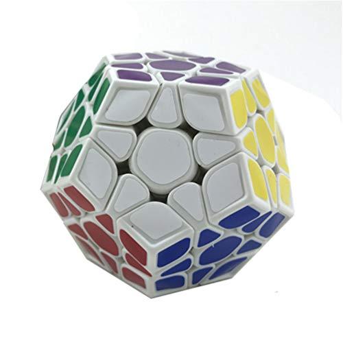 LBFXQ Professioneller Rubix Cube, Zauberwürfel 3x3 Puzzle Cube Fast & Smooth Magic Cube, dauerhafte Glatte Puzzlespielzeug tragbar für Erwachsene,Weiß
