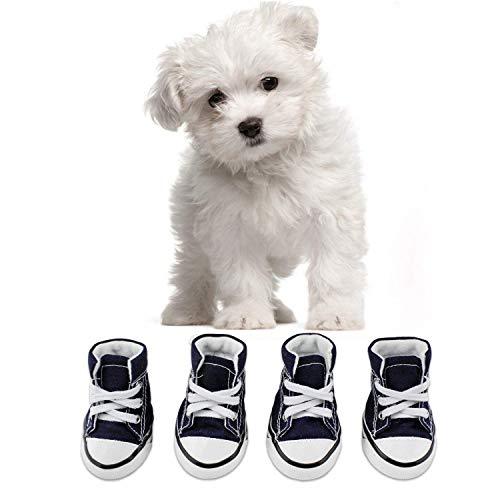 abcGoodefg Pet Dog Puppy Nonslip Canvas Sport Shoes Sneaker Boots Rubber Sole