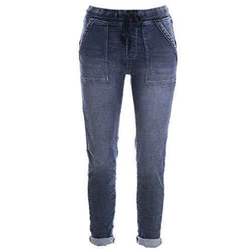 Basic.de Cotton Stretch-Hose Jogging-Pant Style Square Pocket Pant Melly & CO 8181 Jeans-Stoff M