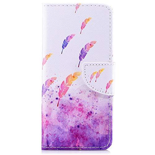 kompatibel mit HTC ONE M8 Hülle,JAWSEU für HTC ONE M8 Flip Hülle Ledertasche Schutzhülle Lederhülle Rosa Liebe Herz Muster Flip Wallet Handy Tasche Brieftasche Bookstyle Klapphülle
