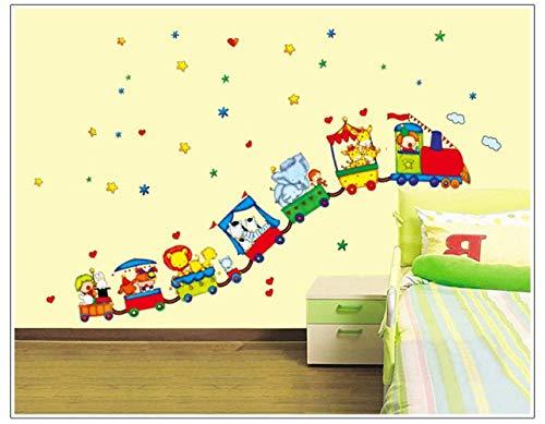 Pegatinas De Pared Arte Vinilo Animal Circo Tren Diy Extraíble Pegatinas De Pared Salón Niños Dormitorio Decoración Del Hogar Calcomanía Mural
