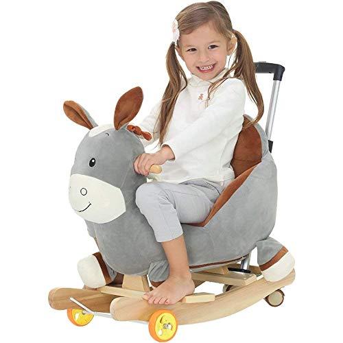 YUEZPKF Schön Schaukelstuhl Kinder Schaukelpferd Baby Schaukelstuhl Baby Kutschen Geschenk 14 Jahre alt Rocking Rideon Spielzeug (Farbe (Color : B)