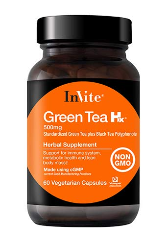 InVite Health Green Tea Extract 500mg, Supports The Immune System, Metabolic Health and Lean Body Mass, Non-GMO Dietary Supplement, 60 Vegetarian Capsules (Pack of 1)