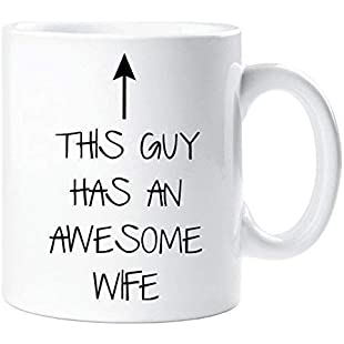 This Guy Has an Awesome Wife Mug Husband Gift Present Christmas Birthday Valentines Anniversary:Lidl-pl