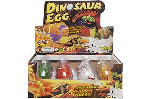 Schnooridoo 4 x farbige Magische Dinosaurier Eier wachsender und schlüpfender Dino Ei Mitgebsel Kindergeburtstag Give Away