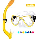 Kekilo Snorkel Mask Set,Scuba Diving 180° Panoramic Wide View, Anti-Fog Scuba Diving Mask