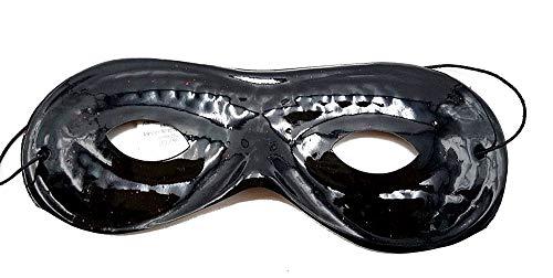 Zorro-masker - kind - masker - zwart - carnaval - pulcinella - gemaskerde man - pvc - origineel idee voor een verjaardagscadeau