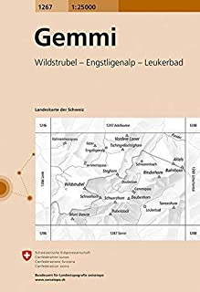 1267 Gemmi: Wildstrubel - Engstligenalp - Leukerbad (Landeskarte 1:25 000)