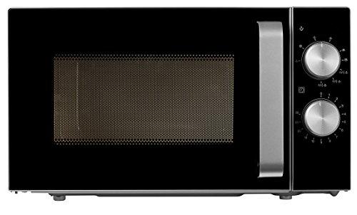 MEDION MD 18071 - Microondas con grill, potencia de 800 vatios, capacidad de 20 L, grill de 1000 W, 6 niveles de potencia, función de descongelación, Plateado