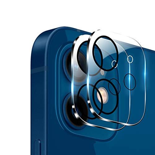 2枚入 iPhone12 用 カメラフィルム Aerku 日本旭硝子製 iPhone 12 用 2眼 レンズ保護フィルム 9H硬度 飛散防止 透過率99.9% 気泡防止 ラウンドエッジ加工 iPhone 12 対応(6.1 インチ)