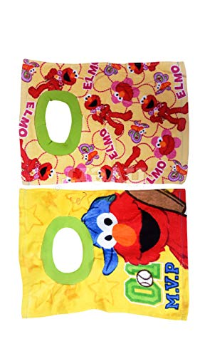 Sesame Street Elmo Baby Bibs- 2 Piece Pack (Yellow)