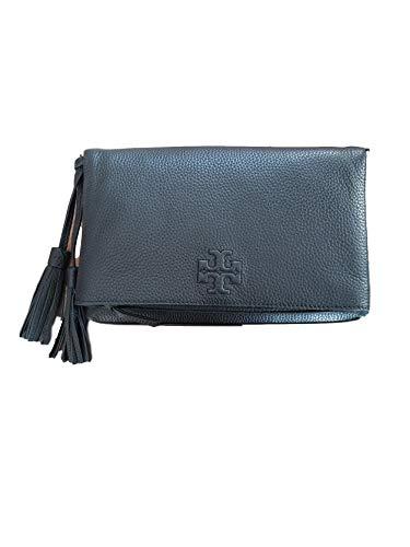 Tory Burch Damen Thea Foldover Crossbody Tasche, Schwarz (schwarz), Small