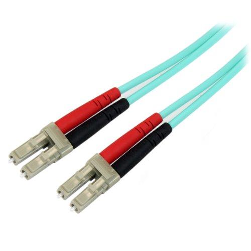 StarTech.com 3m 10 Gb Aqua Multimode 50/125 OM3 Duplex LSZH LWL- /Glasfaser Patchkabel LC - LC - LWL- / Glasfaser Netzwerkkabel