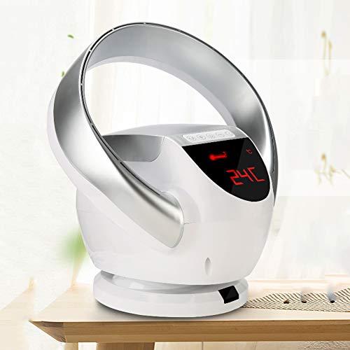 SXFYMWY Ventilador sin aspas Ventilador de Piso silencioso Plegable portátil montado en la Pared con 8 Niveles de Velocidad Control Remoto Temporización Circulación de Aire Ventilador de Escritorio