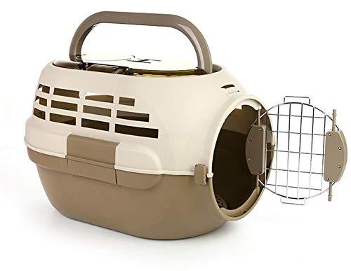 Aida Bz Crabot Dehors avec la boîte d'air d'animal familier de puits de lumière de Skylight boîte de Consignation de Chat Portable d'air de Cage d'animal familier,Brown