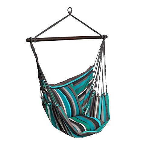 maDDma ® Hängesessel Hängesitz Relax XL Streifen Baumwolle, ohne Kissen, freie Farbwahl, Farbe:Mehrfarbig 1