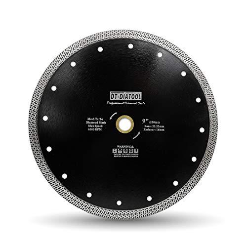 DT-DIATOOL Disco Diamantato 230 mm x 22,23 mm 16 mm Lama Della Sega con Mesh Turbo per Porcellana Piastrella Marmo Ceramica Granito