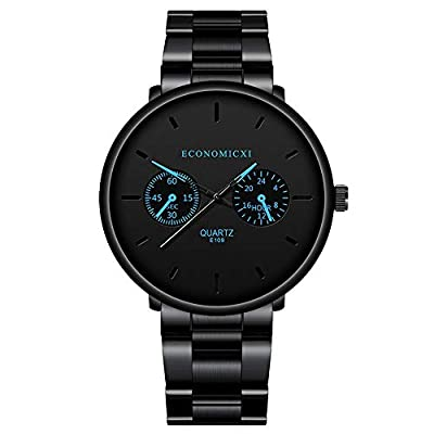 Men's Noble and Elegant Black Color Watches wit...
