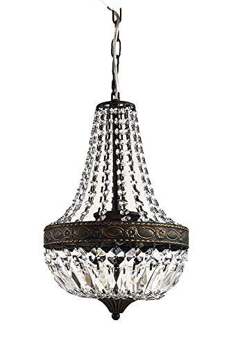 Kroonluchter, kristallen lamp, korblouser, kroonluchter, lamp, Florence Ø25cm voor de woning in trendy antiek-stijl, gemaakt van geslepen kristallen - PGA Lights