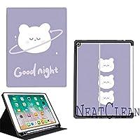 NeatClean ipad air2 ケース かわいい かっこいい 耐衝撃 魅力的 アイパッドケース 二つ折り ペンシル収納 ipad 9.7 ケース pencil収納 iPad 第六世代 9.7 インチ ケース 2018 iPad 第五世代 9.7 インチ ケース 2017 ipad air10.5 ケース Air3ケース Air2ケース Airケース 手帳型 iPad mini5ケース mini4ケース mini3ケース mini2ケース miniケース アイパッドカバー ipad pro11 ケース ペンシル ipad pro10.5 ケース おしゃれ ipad 9.7 ケース ペンシル収納 お洒落 クマ柄 宇宙 子供 人気(iPad Air2,c柄)