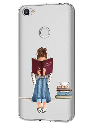 Funda Xiaomi Redmi Note 5A Case,Caler ® Suave TPU Gel Silicona Ultra-Delgado Ligera Anti-rasguños Carcasa Imagen Interesante Protección (Tiempo de Lectura)