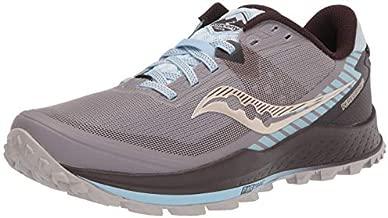 Saucony Women's Peregrine 11 Trail Running Shoe, Zinc/Sky/Loom, 8