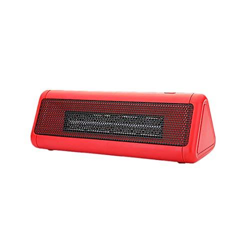 UELEGANS Calefactor Eléctrico Calefactor Portátil 300W Ajuste De 2 Engranajes con Oscilación Automática, Protección contra Sobrecalentamiento para Hogar Y Oficina,Red
