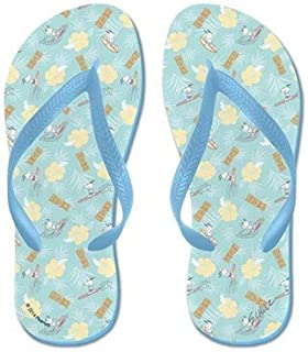 Snoopy Tiki Flip Flops for Kids Adult Beach Sandals Pool Shoes Party Slippers Black Pink Blue Belt for Chosen