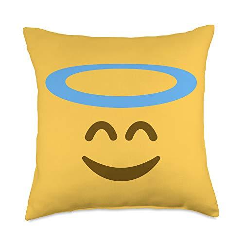 Blisss Emoji Angel Emoji Throw Pillow, 18x18, Multicolor