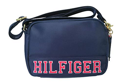 Tommy Hilfiger Signature Small Crossbody Adjustable Strap Handbag Navy Blue