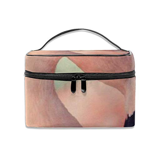 Rose Flamingo Voyage Maquillage Train Cas Maquillage Cosmétique Cas Organisateur Portable Artiste Sac De Rangement