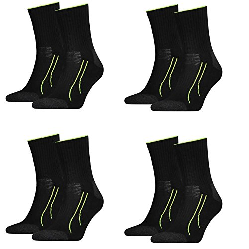 4 Paar unisex PUMA Socken PERFORMANCE SHORT TRAIN Socke für Sport und Freizeit FARBWAHL, Grösse:35-38;Farbe:schwarz