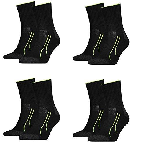 4 Paar unisex PUMA Socken PERFORMANCE SHORT TRAIN Socke für Sport und Freizeit FARBWAHL, Grösse:43-46;Farbe:schwarz