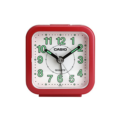 Casio Analog Table Clock (TQ-141-4DF), Red-White clock