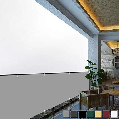 Aiyaoo Paravento per Balconi 85x700cm Wind- und UV-Schutz Wetterfest BalkonSichtschutz SeitenSichtschutz mit Ösen Nylon Kabelbinder Kordel für Garten Balkon Swimming Pool Grau