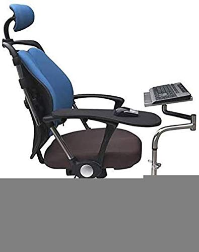 Ergonomic Keyboard Laptop Mouse Stand Mount Installed to Chair or Any Round Bar with Maximum 1 96 inch Diagonal Thickness