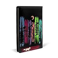ブックカバー 手帳カバー レザー 狐 フォックス ツリー 手帳型 軽量 耐久性 文庫本サイズ プレゼント 読書 滑り止め 耐久性 洗濯可能 書籍 メンズ レディース おしゃれ 32 X 22cm