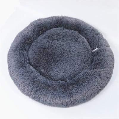 Hondendonut - Luxe katten & hondenmand - Donut - Heerlijk zacht - Fluffy - Antraciet - 100 cm - Size L
