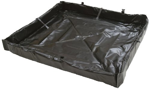 AIRE INDUSTRIAL 918-060804B Duck Pond Portable Containment, 120 Gallon Spill Capacity, 72' Length x 96' Width x 4' Height, Black