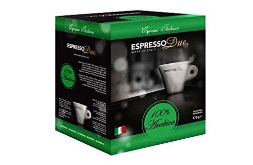 Espresso Due 25 Capsule Caffe 100{b268f1b52baa5cf6fad6fa3541a653a2cc3de04751cdb259e764efd1b6dffd87} Arabica per Nuove Macchine cod. 315-321-327