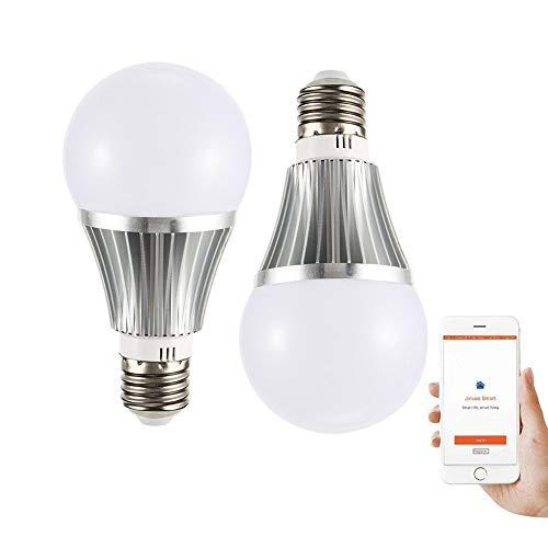 SXYHXY Luces LED Inteligentes RGB WiFi B22 Bombillas 18W Dimmable Bombilla Multicolor Trabajar con Alexa, Echo, Google Home y IFTTT,B22,RGB+W