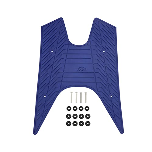 XINGHUA wangzai Store Motorradfüße Kissen Pads Pflege Einlegesohlen Pedal Pad Einlegesohle Fit für DI Oaf18. DIO50 AF17 AF18 AF25 DIO 50 Fersenfußmatte Pedalkissen (Color : Blue)