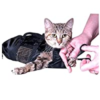 YINENG ペットの猫のグルーミングバッグ,調節可能な多機能ケース,シャワー,メッシュ,傷防止