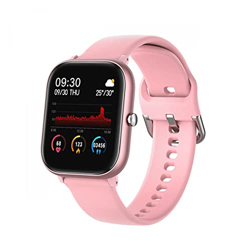 Adecuado para teléfonos Android IOS, relojes inteligentes para hombres y mujeres, monitores de frecuencia cardíaca a prueba de agua con Bluetooth, rastreadores de ejercicios, relojes deportivos(H)