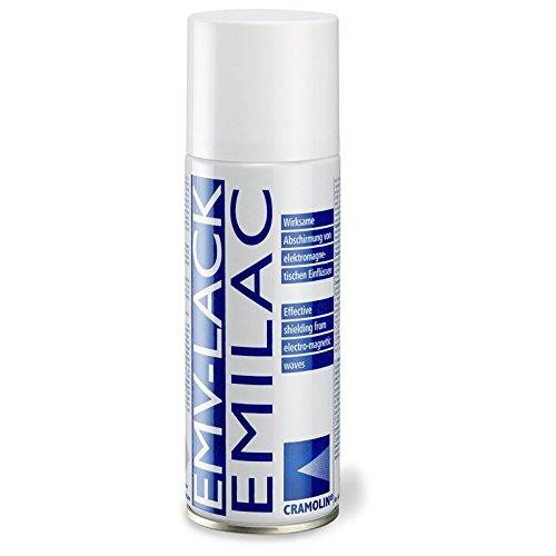 EMV-LACK 200ml Spraydose - hochleitfähiger Überzug auf Kupferbasis - ITW Cramolin - 1241411 - Wirksame Abschirmung von elektromagnetischen Einflüssen, inkl. 1 St. DEWEPRO® SingleScrubs