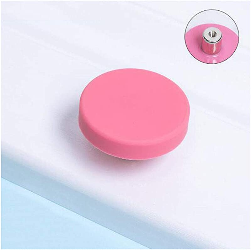 Siyibb 5 Pack Cartoon Furniture Drawer Pull Knobs For Kids Bedroom Cabinet Dresser Rubber Material Pink Single Hole