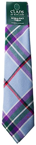 I Luv Ltd World Peace 100% Wool Scottish Tartan Tie