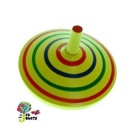Legler Jouet Toupie en Bois coloré Diamètre 5 cm Enfant 3 Ans + - Jaune