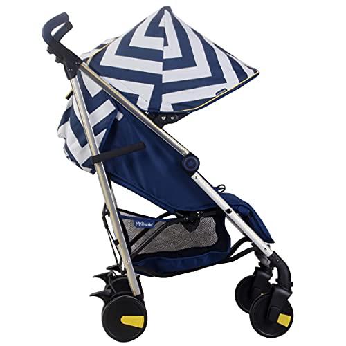US51 Blue Chevron Lightweight Stroller