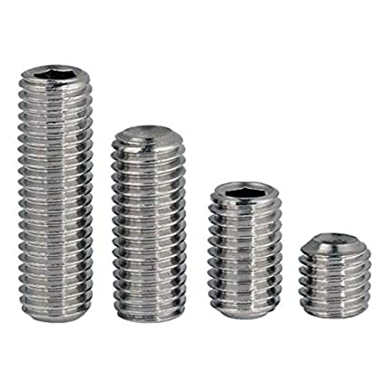 Quantity 100 by Fastenere Cup Point Din 916 Allen Socket Drive Stainless Steel A2 M4-0.70 x 10MM Socket Set Screws Full Thread Bright Finish